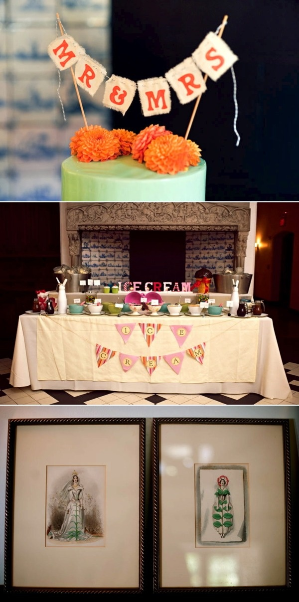 Marigold #wedding inspiration complete with #treat table!