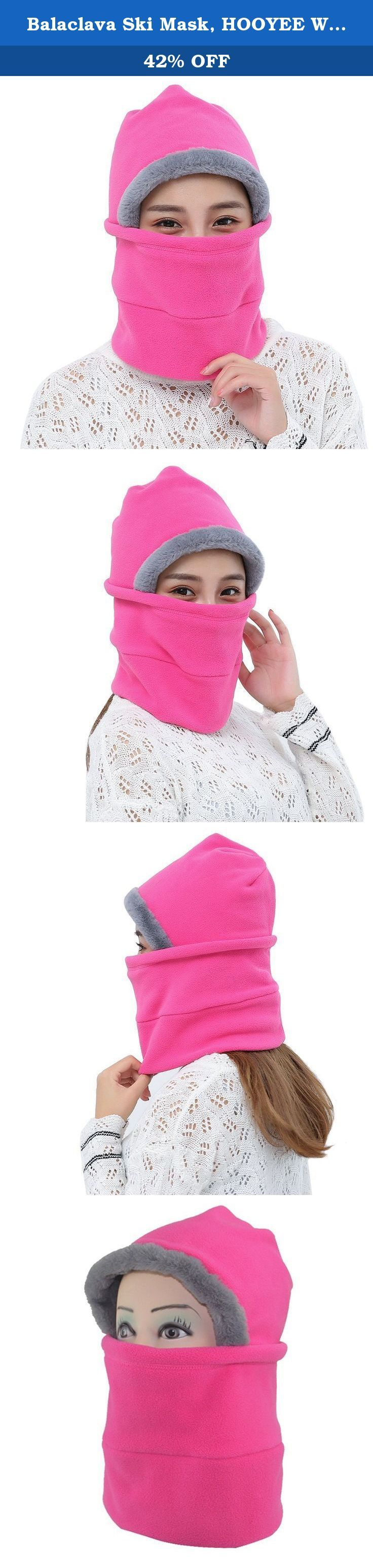 Balaclava Ski Mask, HOOYEE Winter Rabbit Hair Cs Mask Face Head Windproof Mask Outdoor Motorcycle and Cycling Hats for Men and Women (Pink). Winter comes cold, have you prepared for? Dry cheeks, red nose and ears, cold neck, our balaclava ski mask will protect you from. It is also so good gift for you and your family members, or your friends. Why You'll Love Your Versatile Balaclava : Gives cold, wind and sun protection while skiing, motorcycling, running, cycling, trekking, fishing…