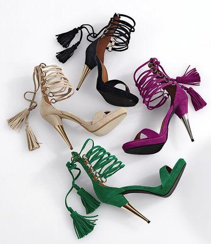 tassel pumps high heels