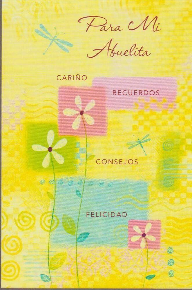 Spanish Birthday Greeting Card For My Grandma Tenderthoughts Birthday Birthday Quotes Birthday Greeting Cards Spanish Greeting Cards