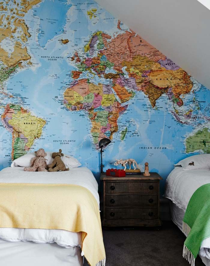 The Wall Sticker Company Removable World map wallpaper Whatu0027s the - copy world map poster the range