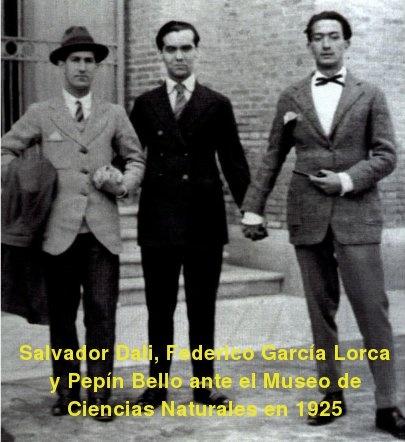 Federico Garcia Lorca, Salvador Dali y Pepín Bello                                                                                                                                                                                 Más