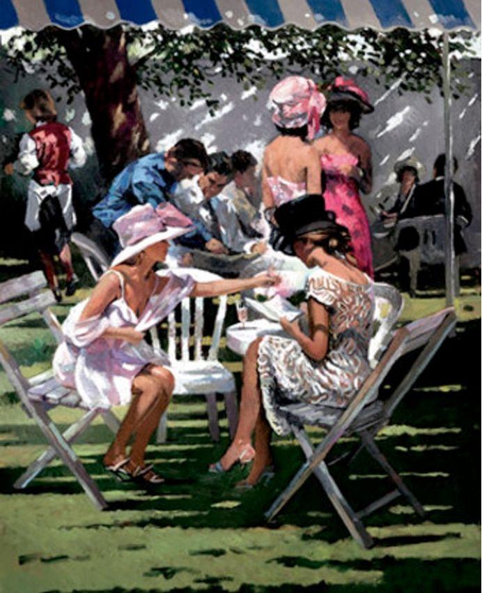 Belle inspiration pour aquarelle !  Sherree Valentine-Daines 1956 | British impressionist oil painter