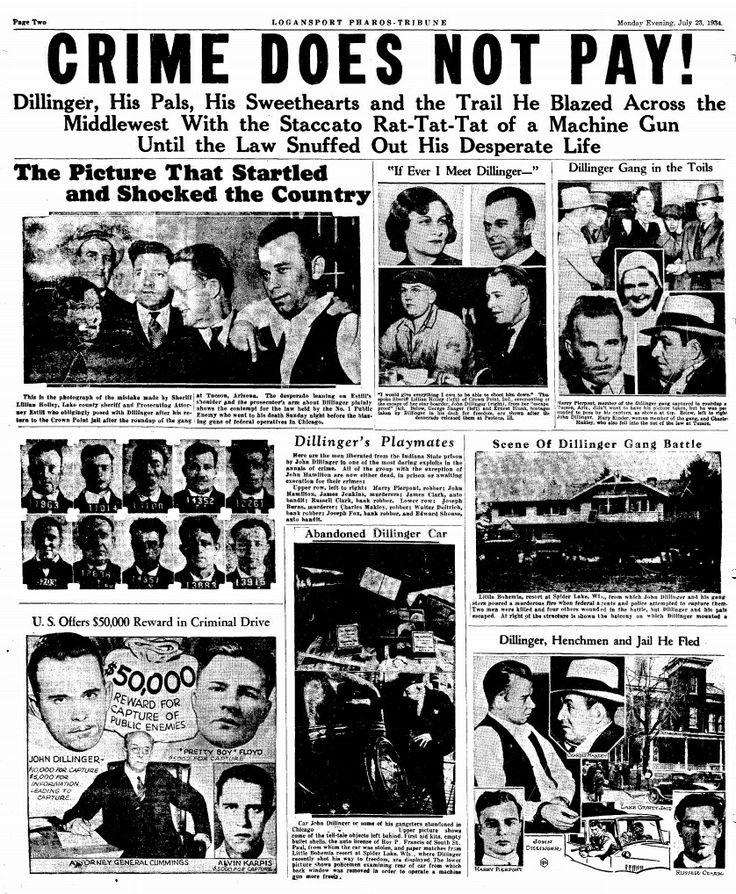 John Dillinger newspaper ad