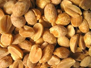 Amendoim salgado de microondas