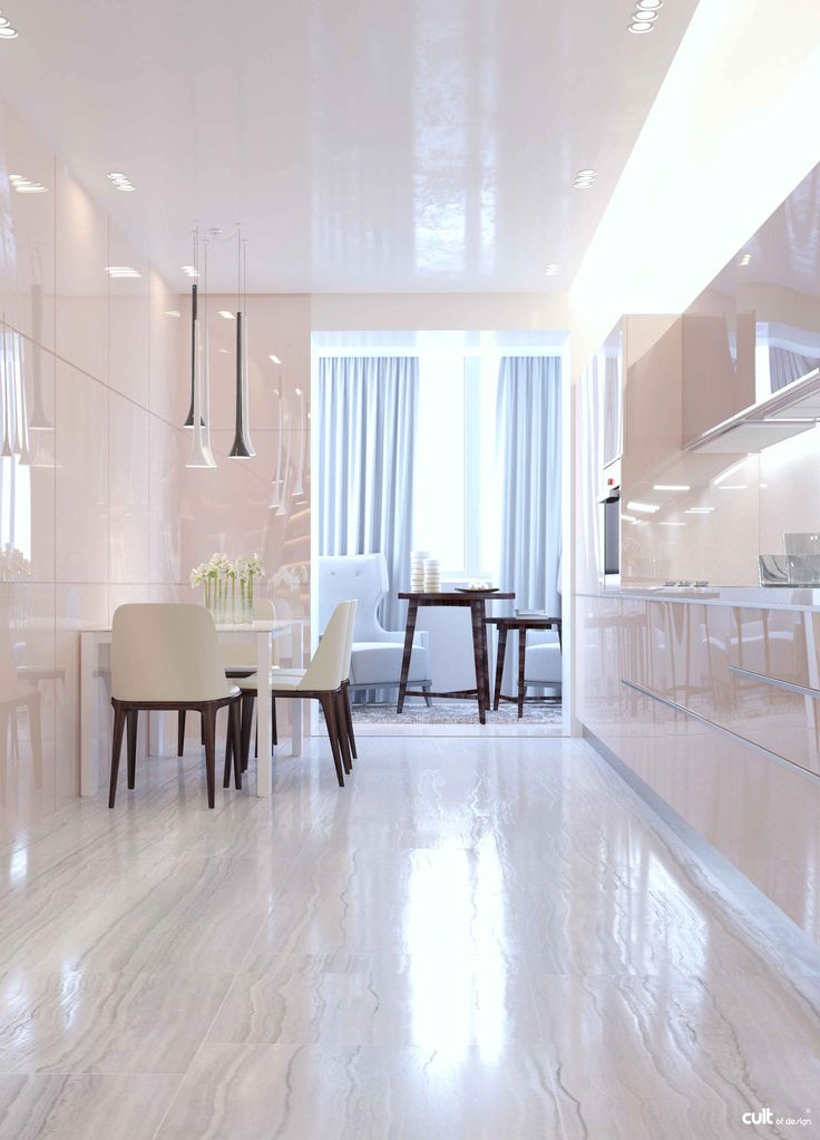 #Design #apartment created with allocated space and a minimal amount of furniture and other #interior elements.