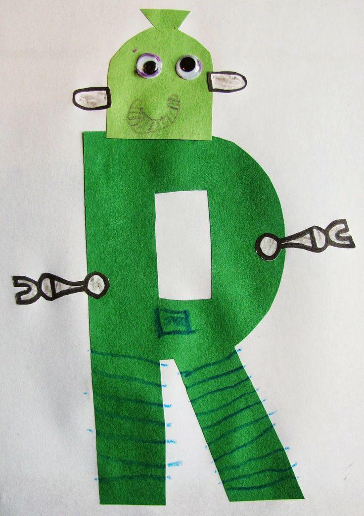 Free R is for Robot Printable - plus lots of ideas for letter of the week: R activities and crafts