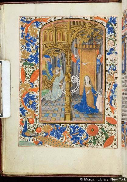 Book of Hours, MS S.1 fol. 15v - Images from Medieval and Renaissance Manuscripts - The Morgan Library & Museum