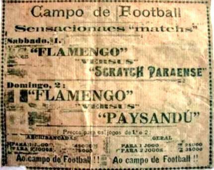 Aqui o ingresso dos jogos do Flamengo contra o Scratch Paraense e o Paysandu. Uma raridade (📷 Blog do Chocolate). https://twitter.com/flamengoretro/status/892353425505214464/photo/1pic.twitter.com/AY9jW0j27C