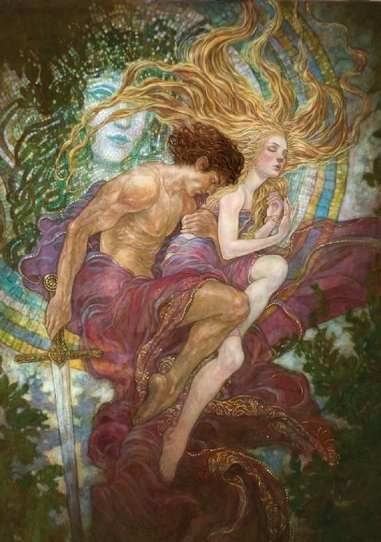 Lancelot & Guinevere by Rebecca Guay