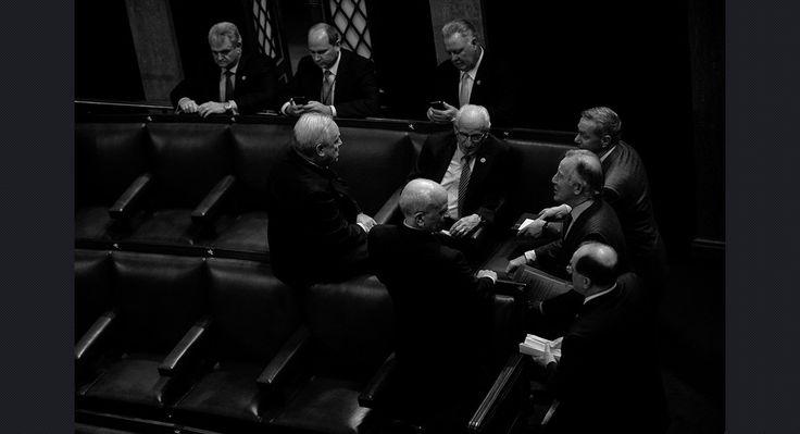 Rep. Michael Doyle (D-Pa.), Bill Pascrell (D-N.J.), Stephen Lynch (D-Mass.), Richard Neal (D-Mass.), Michael Capuano (D-Mass.) and Peter Welch (D-Vt.) chat before the opening of Congress on Jan. 3. John Shinkle/POLITICO