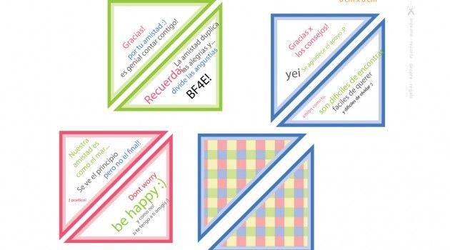 Triángulos para la Tarjeta Squash Amistad