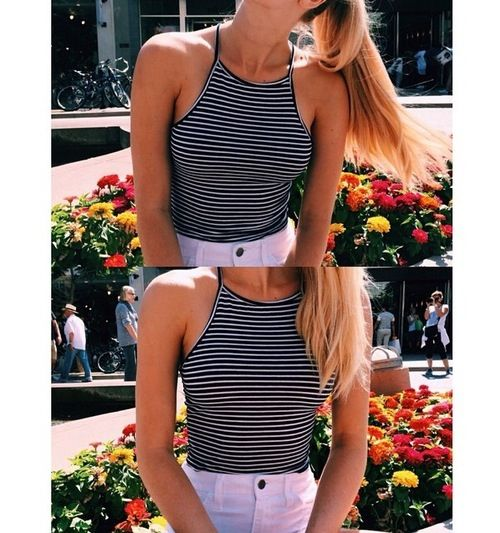 summer fashion style crop top