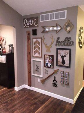 Couleur du mur pour salon/cuisine Adorable wall, some decor came from hobby lobby