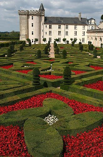 Villandry Chateaux, Loire Valley, France.