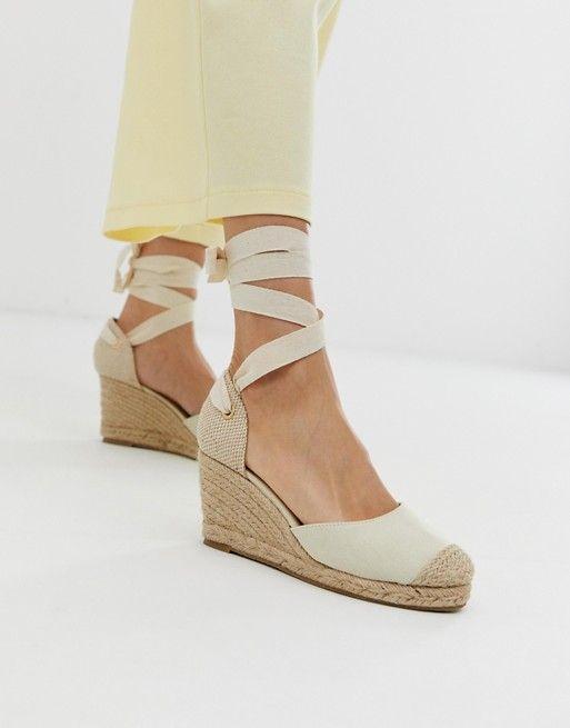 482bdf87fd9 Oasis wedge espadrille sandals in cream in 2019 | French wardrobe ...