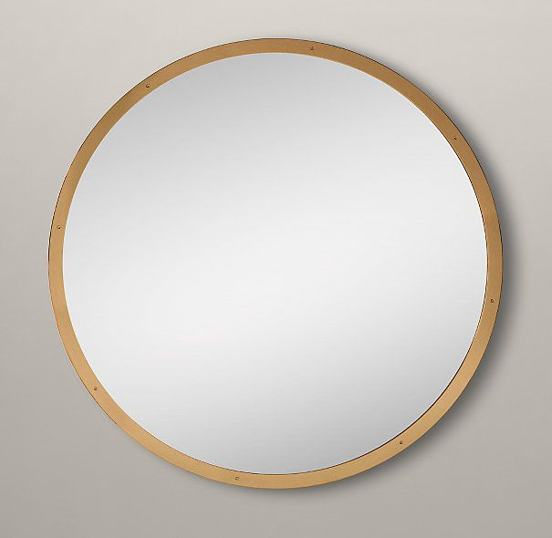 17 best images about mirrors on pinterest metal frames Round framed mirror