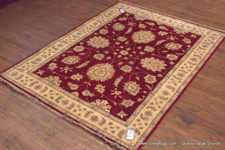 Hand Knotted Ziegler Rug from Afghanistan. Length: 176.0cm by Width: 131.0cm. Now only £729 (Was £794) at https://www.olneyrugs.co.uk/shop/rugs-for-sale/afghan-ziegler-18034.html    Pore over our refined assortment of Persian rugs, footstools and Kilim bags at www.olneyrugs.co.uk