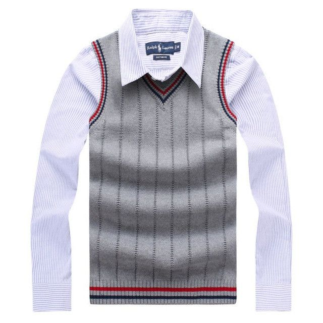 Men Sweaters Knitted Sleeveless Sweaters V-Neck Cotton Pullover Men's Clothing