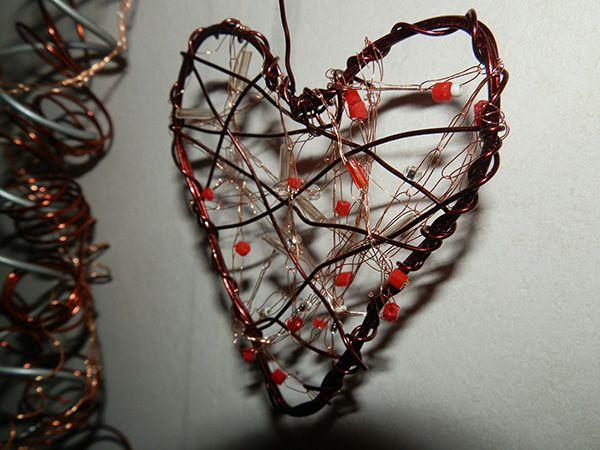 Kuparilangasta sydän