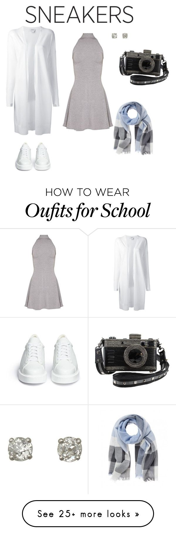 """Late For School"" by jeweypinky on Polyvore featuring Robert Clergerie and DKNY"