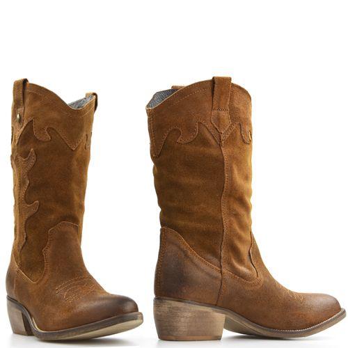 Poelman 12963 cowboylaarzen caramel bruin suede