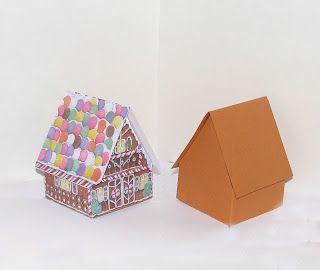 pop up gingerbread house | Templates | Pinterest