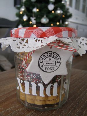 Bonne maman jar / christmas present https://www.facebook.com/bizzyathome