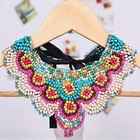 Bohemian Style Tiny Multicolor Beads Design Fake Collar Necklace For Women Necklaces | RoseGal.com Mobile