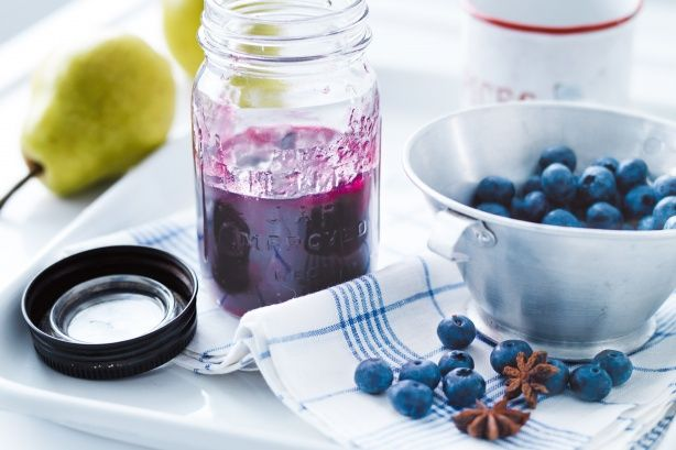 This gorgeous purple jam, with blueberry and pear, has a hint of spice for even more flavour.