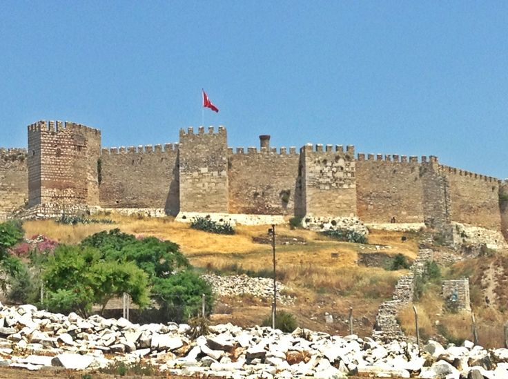 #Selcukcastle  #history #turkey  (very close to Kusadasi)  view of Selcuk Castle from the Basilica of St. John