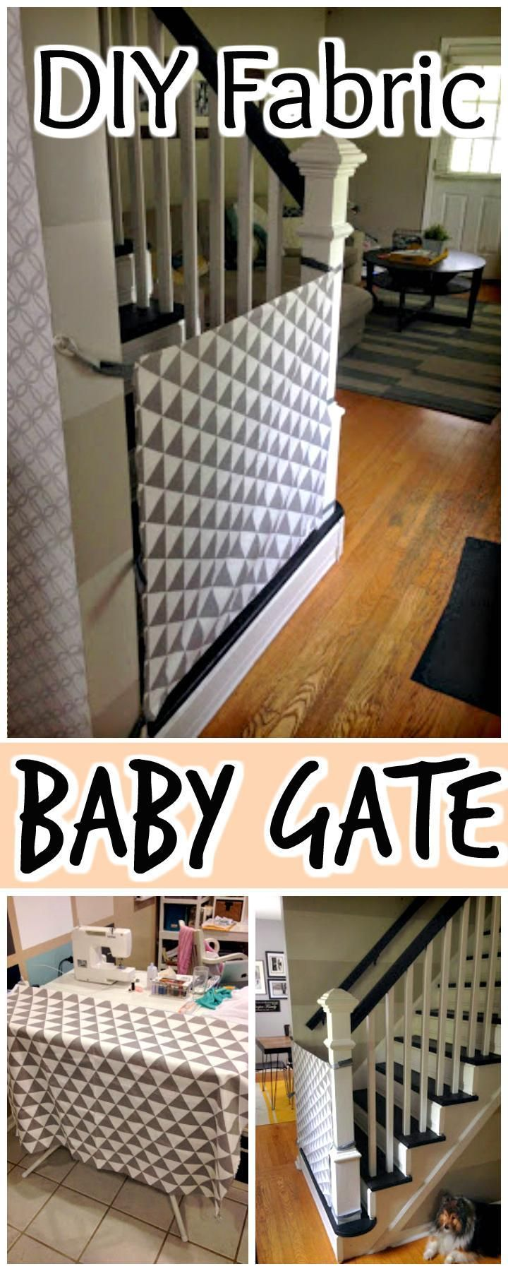 DIY Fabric Baby Gate - 30 Best DIY Baby Gate Tutorials on Cheap Budget | DIY & Crafts
