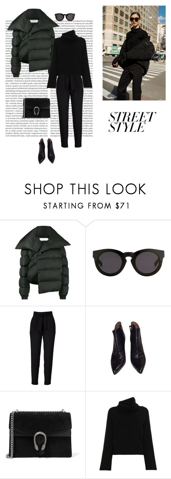 """17/02"" by dorey on Polyvore featuring Marques'Almeida, 3.1 Phillip Lim, Alaïa, Gucci, Chloé, black and winterstyle"