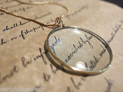 "20"" Long x 1 3/4"" Wide Wonderful reproduction magnifying glass pendant... Magnifying glasses like this were used in the 18th and 19th century due to the poor lighting and eyesight. This piece is made"
