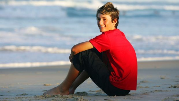 Bernard Tomic, then aged 13, on the Gold Coast in 2006.