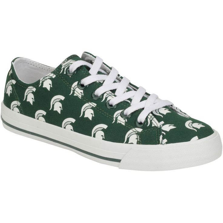 Michigan State Spartans Row One Women's Oxford Lace Up Shoes - Green
