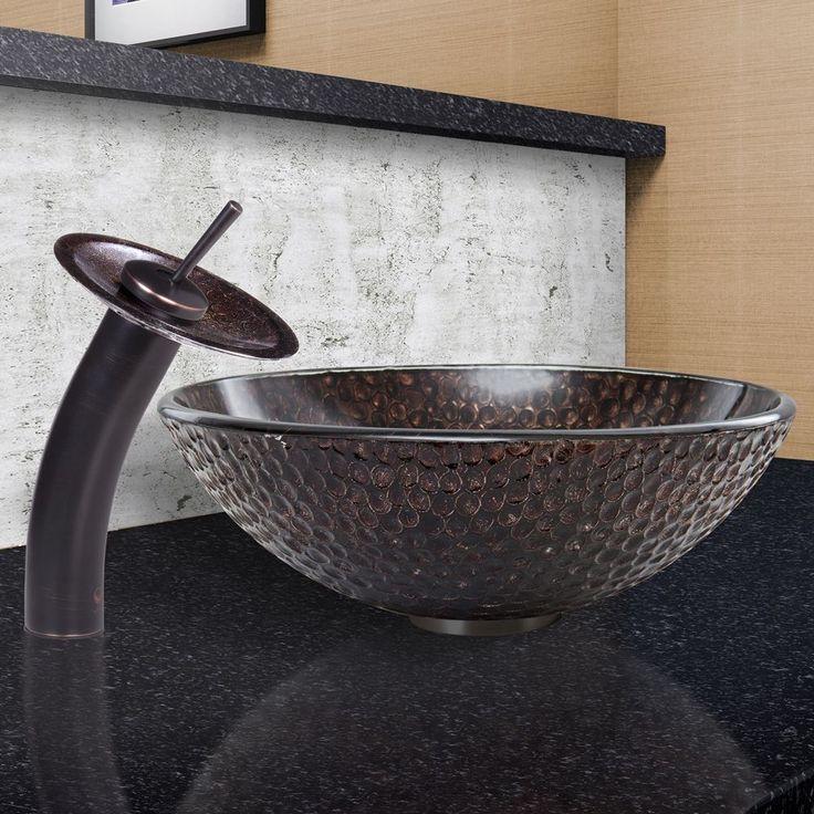 Vigo Copper Shield Glass Vessel Sink and