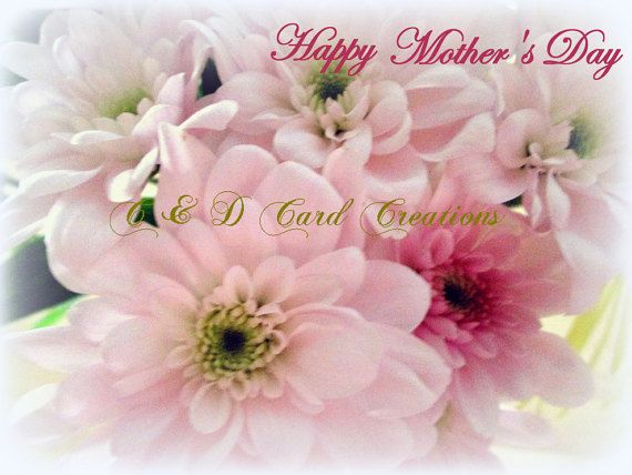 Mother's Day Card Mother's Day Greeting Card, Mother's Day Gift, Pink Flowers, Greeting Card for Mother's Day, Photography Greeting card for Mother's Day