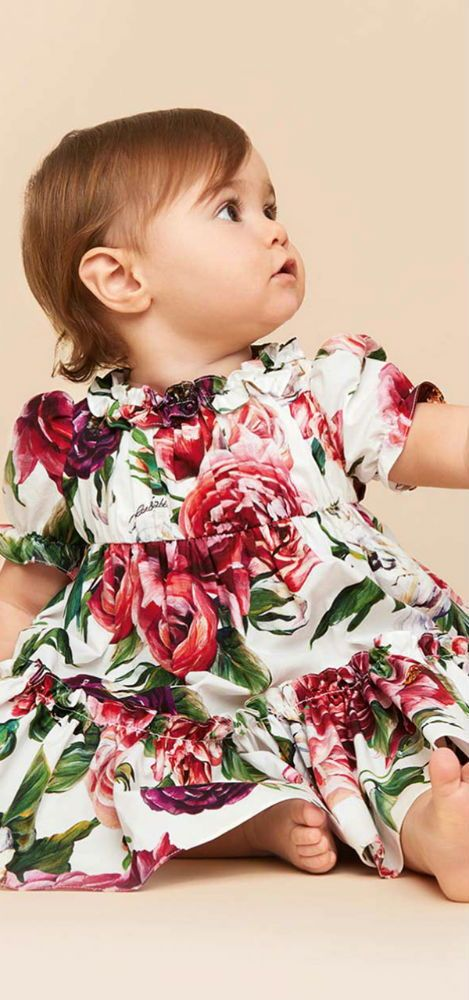 cdee7f20603b DOLCE & GABBANA Baby Girls Cotton Dress Set for Fall 2018. Love this  delightfully pretty mini me look inspired by the D&G Women's Collection.