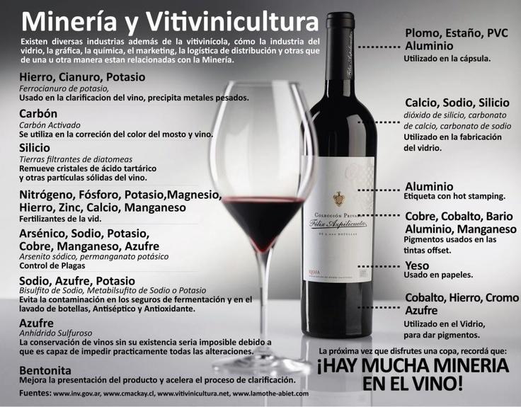 La minería y el vino - infografía