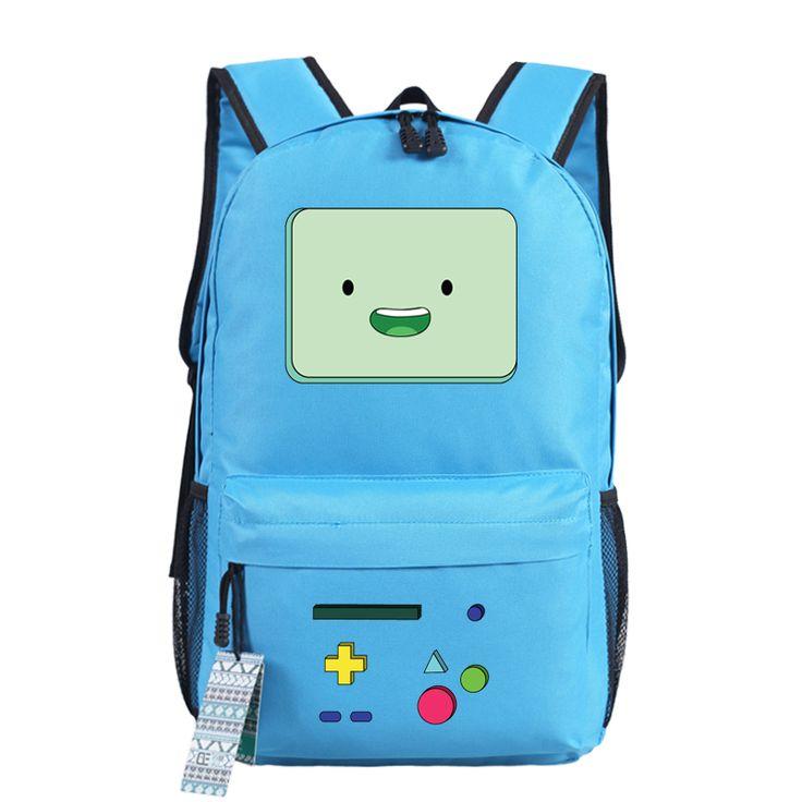 Anime Adventure Time Kawaii BMO Emoji Printing School Bags for Teenagers Canvas Backpacks for Teenage Girls Mochila Feminina - Top Kawaii - Best Online Kawaii Shop Top Kawaii - Best Online Kawaii Shop