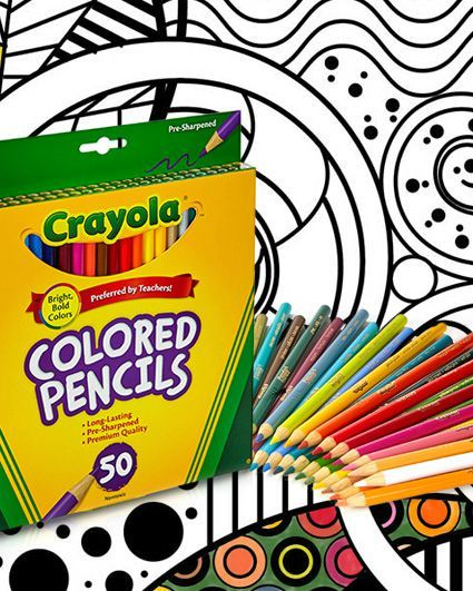 the perfect match crayola colored pencils adult coloring pages