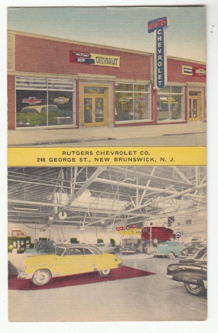 1953 Rutgers Chevrolet Co Dealership New Brunswick New Jersey