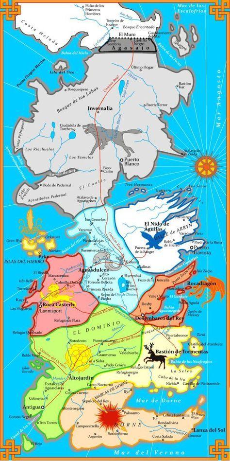 Ms de 25 ideas increbles sobre Mapa juego de tronos en Pinterest