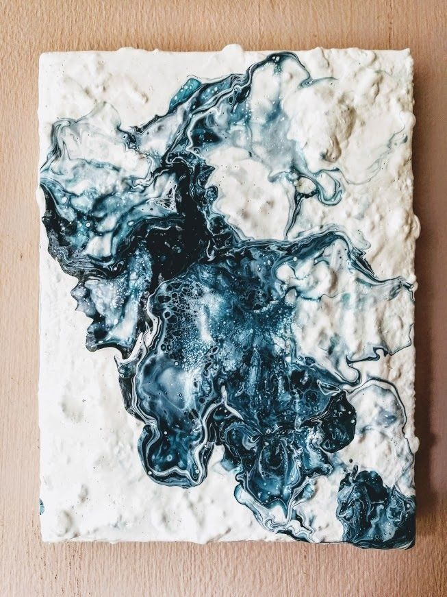 Squid Ink, £40.00 Pouring art, Flow arts, Abstract