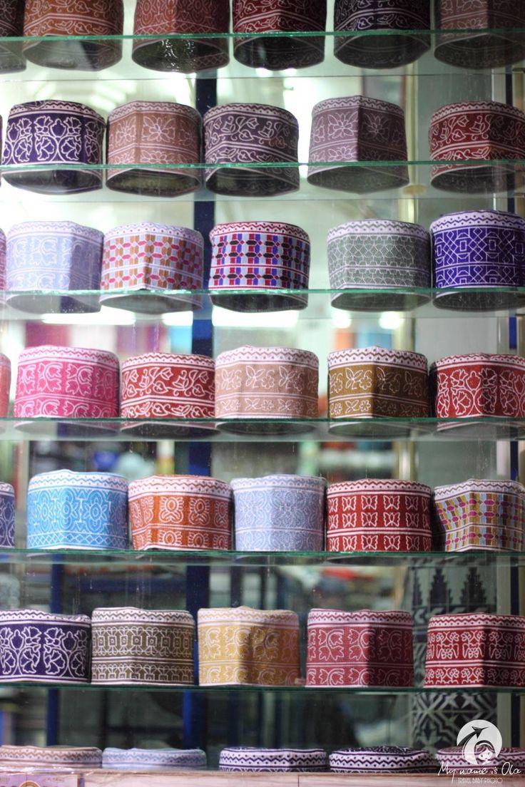 Kumas and  incense burners on Muttrah Souk, Oman