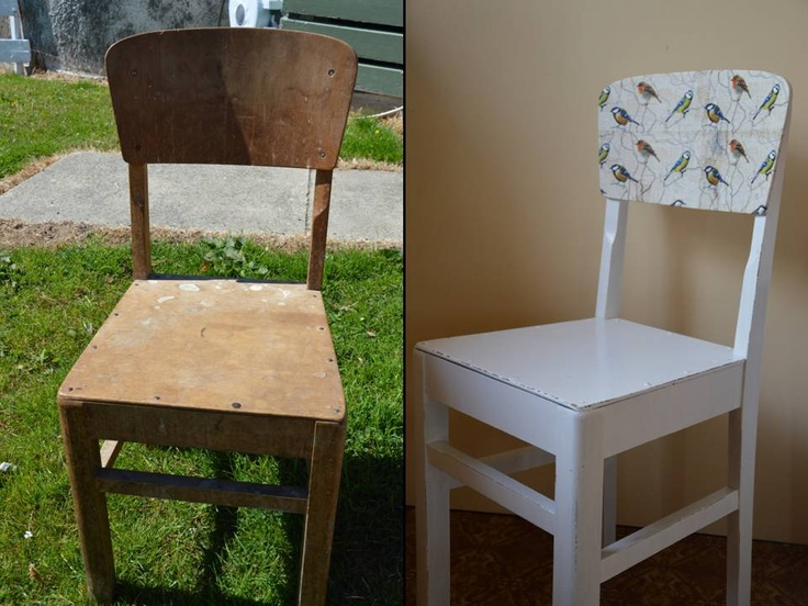 Cute old chair with a face lift