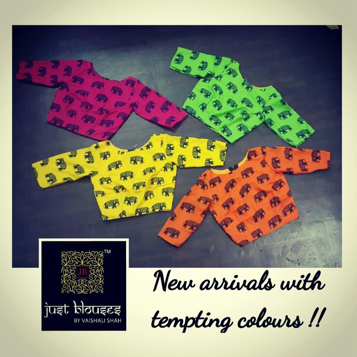 BRIGHT # TRENDY # QUIRKY # CROP BLOUSES # JUST BLOUSES BY VAISHALO SHAH