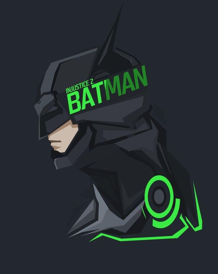 Batman | Injustice 2 Pop culture stylized head Art