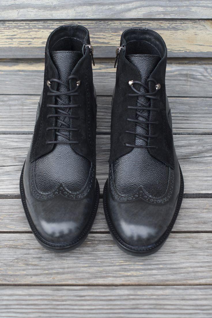 Trzewiki Czarne Meskie Skorzane Marceli Ii Ce4861 04 All Black Sneakers Black Sneaker Black